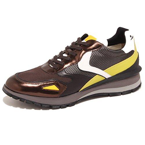 5906O sneaker uomo VOILE BLANCHE UWE SPECCHIO marrone/giallo/nero shoe men [40]