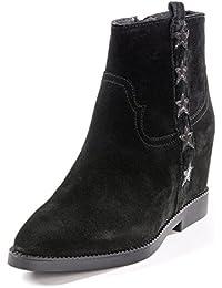 Ash Zapatos Goldie Botines de Ante Negro Mujer