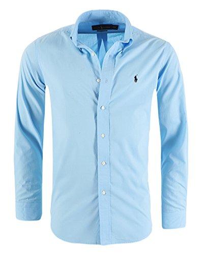 Ralph lauren camicia casual da uomo slim fit s-m-l-xl-xxl, dimensione:l, colore:azzurro