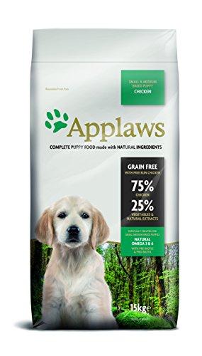 Applaws Hund Trockenfutter Puppy Small & Medium Breed Huhn, 1er Pack (1 x 15 kg) -
