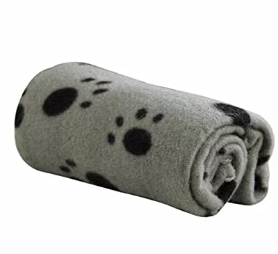 Ama-ZODE 1X Winter Pet Small Medium Large Paw Print Pet Cat Dog Soft Blanket Beds