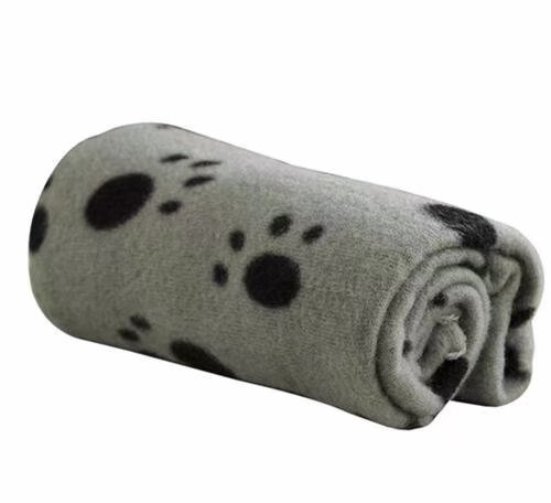 Ama-ZODE-1X-Winter-Pet-Small-Medium-Large-Paw-Print-Pet-Cat-Dog-Soft-Blanket-Beds