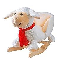YAOBLUESEA Plush Rocking Horse Toy, for Baby 1-3 Years, Child Rocker/Child Rocking Horse Toy/Toddler Rocker/Baby Rocker Toy/Wooden Rocker/Infant Rocker