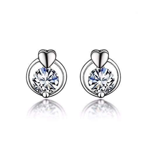 MTWTM Sterling Silber Ohrringe Exquisiten Schmuck Liebe Ohrringe Diamond Drill Ohrringe Mini Damen Accessoires - Diamond Mini Drill