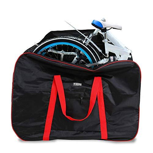 Faltrad Transporttasche Klapprad Fahrrad für Flugzeug Auto 14 Bis 20 Zoll Bike Travel Bag mit Rucksack,Red