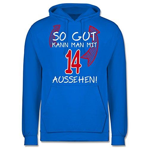 Geburtstag - So gut kann man mit 14 aussehen - Männer Premium  Kapuzenpullover / Hoodie Himmelblau