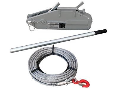 Seilzug Seilwinde Winde 800kg mit 20m Seil zum Ziehen, Spannen oder Heben