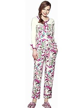DMMSS Home Ladies lunga manica cotone pigiama indossare pigiama Set , l