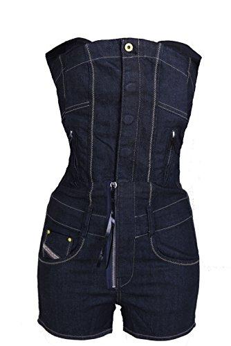Diesel Jeans Overall Pantaloncini Slip Bustino Tayre Tgl XXS - cotone, blu scuro, % cotone % spandex, Donna, XXS