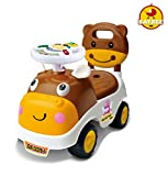 #4: Baybee Hippo Ride-on Car (Brown) with Music