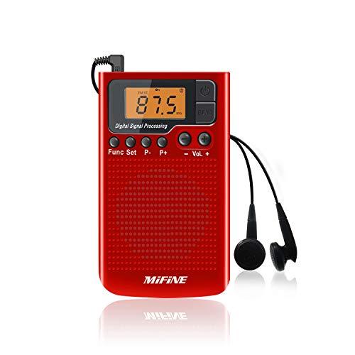 f/ácil de operar Compatible con bater/ía reemplazable Radio port/átil de Bolsillo Universal Receptor Am//FM Altavoz Incorporado Excelente recepci/ón