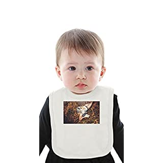 Chrome Sparks Organic Baby Bib With Ties Medium