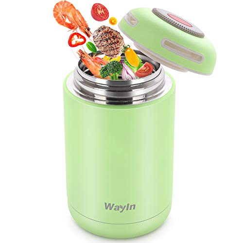 WayIn Thermobehälter Lunchbox 460ml Edelstahl Thermo Isolierbehälter Food...