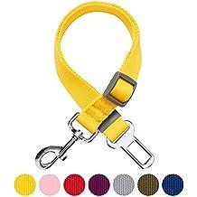 Umi. by Amazon - seggiolino classico per cani in tinta unita con attacco di sicurezza, giallo, per uso con pettorina e cinture di sicurezza, resistente