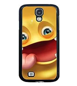 Fuson Designer Back Case Cover for Samsung Galaxy S5 :: Samsung Galaxy S5 G900I :: Samsung Galaxy S5 G900A G900F G900I G900M G900T G900W8 G900K (Yellow Smiley Emoticon Expression. happy Cheerful)