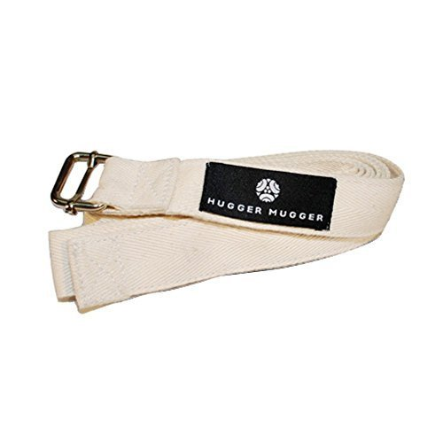 8'India Yoga Strap with Metal Buckle-Natural 1.5inch wide by Hugger Mugger Lil Huggers