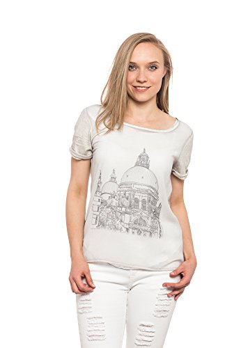 Abbino Nina Shirts Tops Damen Made in Italy Viele Farben Übergang Frühling  Sommer Herbst Damenshirts Damentops Lässig Kurzarm Sexy Locker Sitzend  Klassisch ...