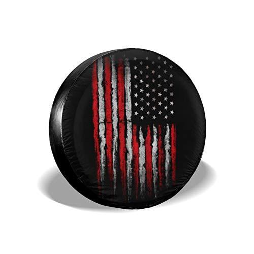 Cocoal-ltd Copertura Universale per Ruota di scorta con Bandiera Americana, Adatta per Camion, Camper, Jeep, rimorchi, Camper, SUV, rimorchi, Accessori da 38,1 cm (Diametro 68,6-73,7 cm)