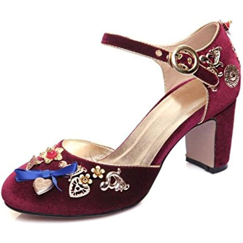 xie pour Chaussures pour xie femmes Velours Bloquer le talon Classique fait à la main diamant Mary Jane Pompes Taille 36To41 - B07DLWMQXK - 5026b1