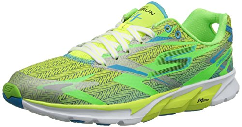 Skechers Go Run 4 - Zapatillas de running para hombre, color verde (ve
