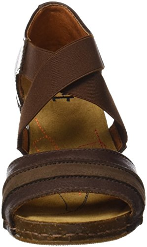 ART 0148 Memphis i Meet, Sandali Open Toe Donna Marrone (Brown)