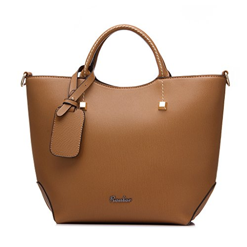 Realer Wasserdichte Top Handtasche Hobo Taschen Große Clutch Purses für Frauen mit langen Riemen (Leder Hobo Clutch Handtasche Bag)
