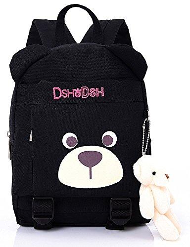 Imagen de  infantil camping guarderia escuela viaje saco perro oso animales mascotas viaje negra niña