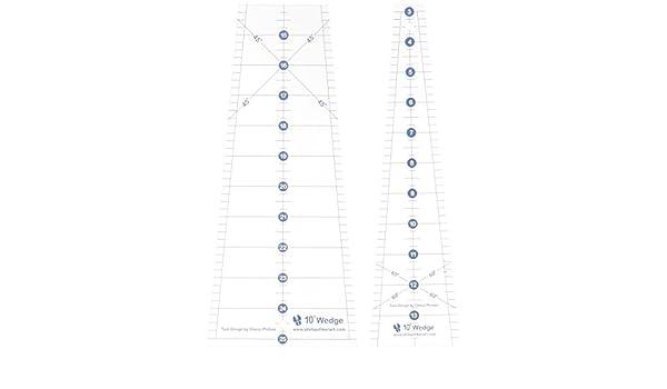 PHILLIPS FIBER ART PFA010500  RULER TEN DEGREE WEDGE