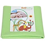 OYO BABY Waterproof Bed Protector Dry Sheet (Green, X-Large)