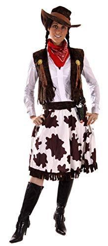Fancy Me 5 Stück Damen Wilder Westen Jessie Cowgirl Cowboy Sheriff Kostüm Kleid Outfit STD &Übergröße - Multi, Plus (UK 16-20)