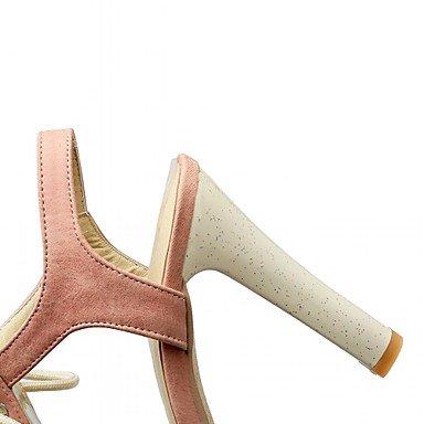 LvYuan Da donna-Sandali-Ufficio e lavoro Casual Serata e festa-Comoda Innovativo-Quadrato-Sintetico Finta pelle PU (Poliuretano)-Blu Rosa Beige Pink