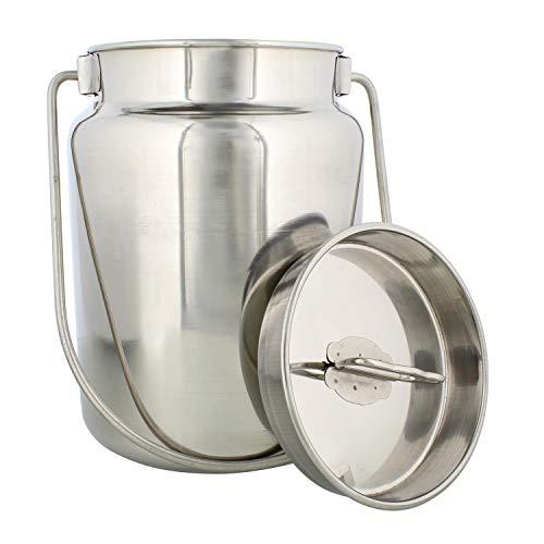Country 365 Milchkännchen aus Metall, 4 l, Edelstahl-Krug mit Deckel, aus Metall, Milchkanne mit Deckel