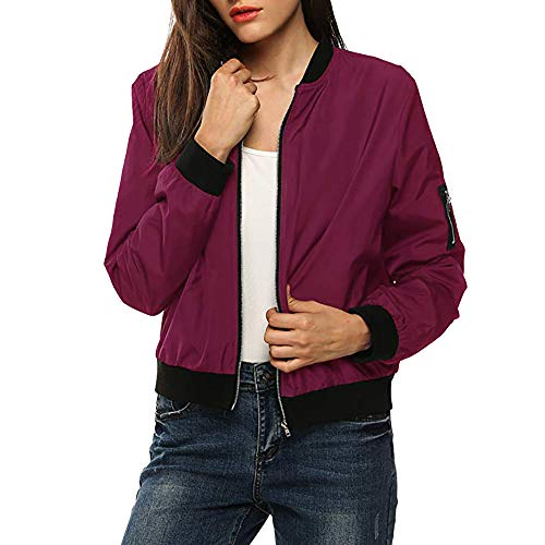 Preisvergleich Produktbild TianWlio Mäntel Frauen Weihnachten Damen Mantel Langarm Strickjacke Jacke Outwear Herbst Winter Klassische Gesteppte Jacke Kurze Bomberjacke Mantel