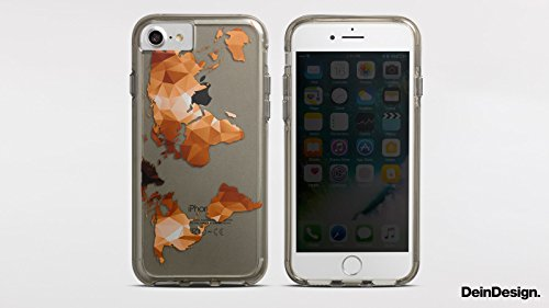 Apple iPhone 7 Plus Bumper Hülle Bumper Case Glitzer Hülle Karo Lila Pattern Bumper Case transparent grau