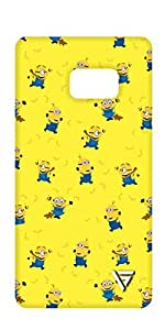 Vogueshell Minion Pattern Printed Symmetry PRO Series Hard Back Case for Samsung Note 7