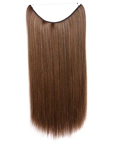 One Piece Fisch Line in Hair Schuss Verlängerung Full Head Frauen Clip auf Haarteile (Wie Fische Schlafen)