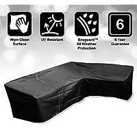 Bosmere Protector 6000 Modular L Shape Sofa Cover, Large 2.5m x 2.5m - Black, M666