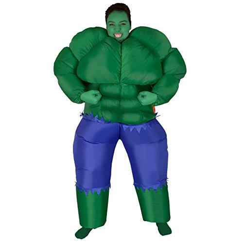 gonfiabile di Blow Up muscolare verde incredibile Forte Muscolo uomo Halloween Costume di novità Carnevale