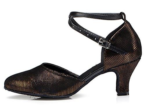TDA ,  Damen Durchgängies Plateau Sandalen mit Keilabsatz 6cm Heel Brown