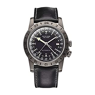 Glycine Airman Mens Analogue Automatic Watch with Leather Bracelet GL0246