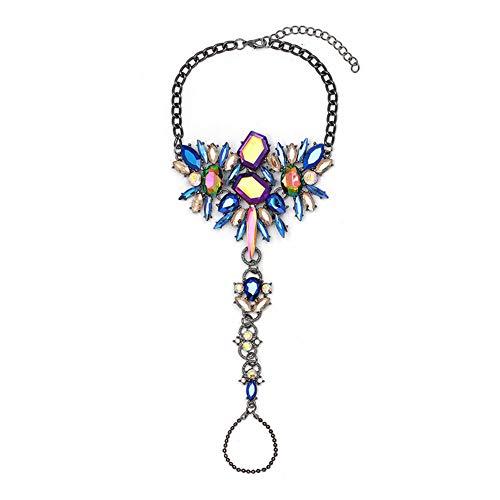 Z&HA Damen Vintage Diamant Ring Armband/Beach Bikini Fußkettchen Legierung Set Edelstein Reisen ()