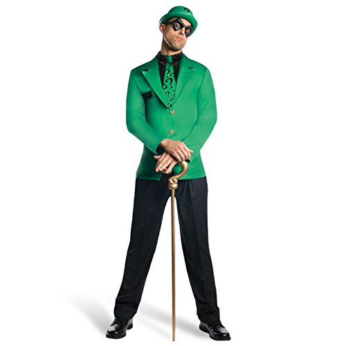 Batman-Riddler-Costume-Men-3-Piece-Complete-Costume-DC-Comics-Licensed-XL