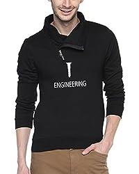 Campus Sutra Black Mens Shawl Neck Printed Sweatshirt (AW15_HCWL_M_SE_BL_XL)