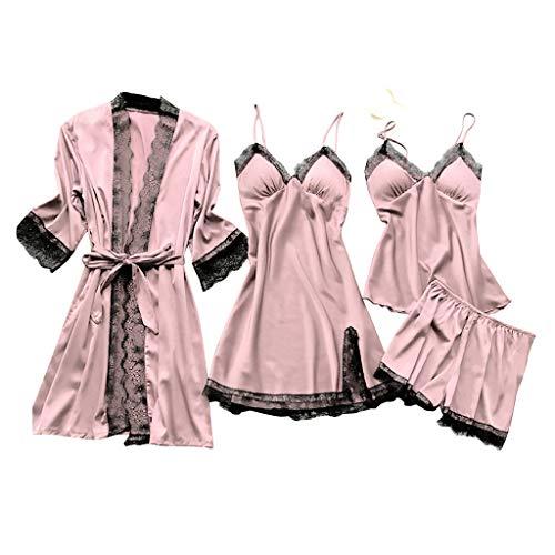 Yesmile Negligees Damen Sexy Dessous Silk Kimono Dressing Babydoll Spitze Dessous Gürtel Bademantel Nachtwäsche Unterwäsche Lace Bodysuit