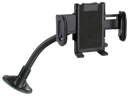 Lescars Handy Halterung Saugnapf: Universal-Schwanenhals-Halterung (Kfz Universal Halterungen)