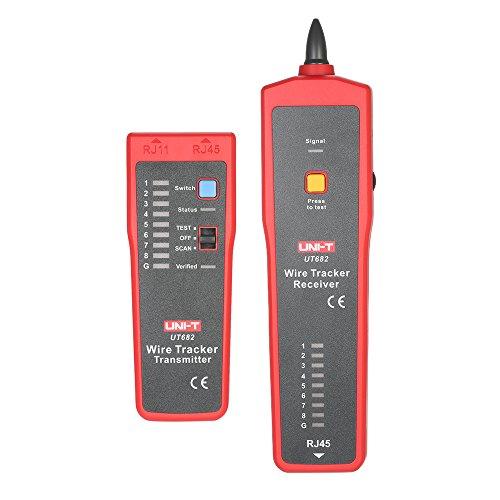 Fesjoy UT682 Multifunktionshand Draht Tester Tracker RJ11 RJ45-Draht-Linie Finder Kabel Test-Tool für Netzwerk-Wartung