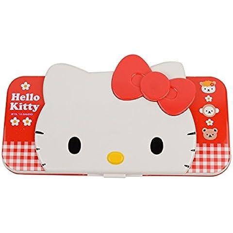 Hello Kitty Creative Multi-funcional de plástico de la pluma y lápiz Cajas KT9306 (Rojo)