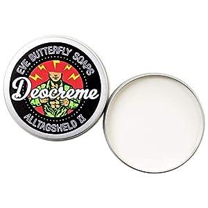 Deocreme Alltagsheld 2 – Travel Size 35 g | aluminiumfrei, Unisex Duft, maritim-blumig, Zitrusnoten, vegan