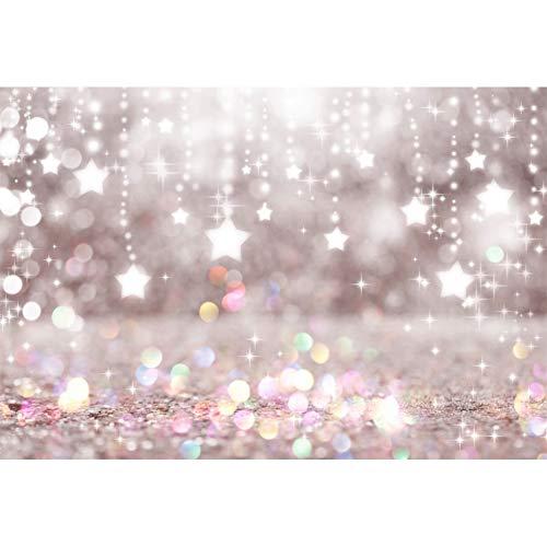 Yongfoto 3x2m vinile fondali fotografici perline pendenti stelle tenda colorato macchie di scintillio bokeh sfondo foto san valentino nozze fondale foto studio fotografico accessori