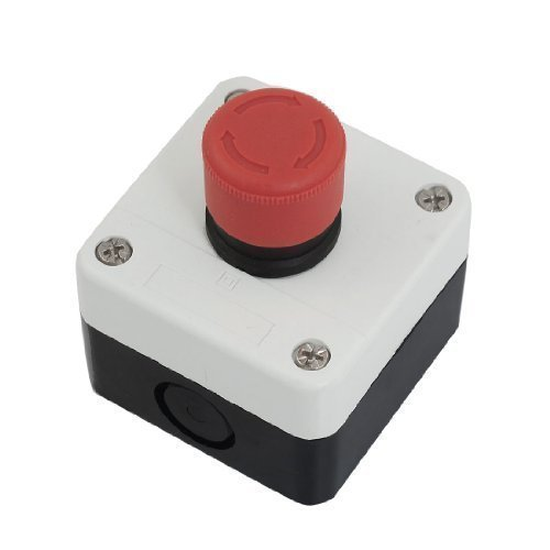 Preisvergleich Produktbild NC Not Stop Schild Latching Push Button Switch Station 600 V 10 A